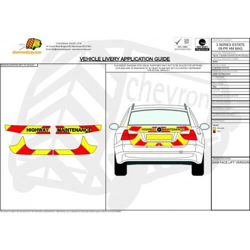 BMW 3 Series Estate Chevron Kit